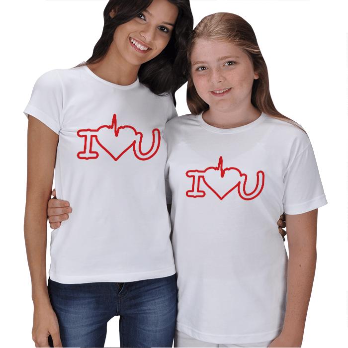 Seni Seviyorum Anne Kız Tişörtleri