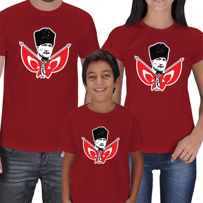 Atatürk Anne Baba Erkek Çocuk Tişörtleri