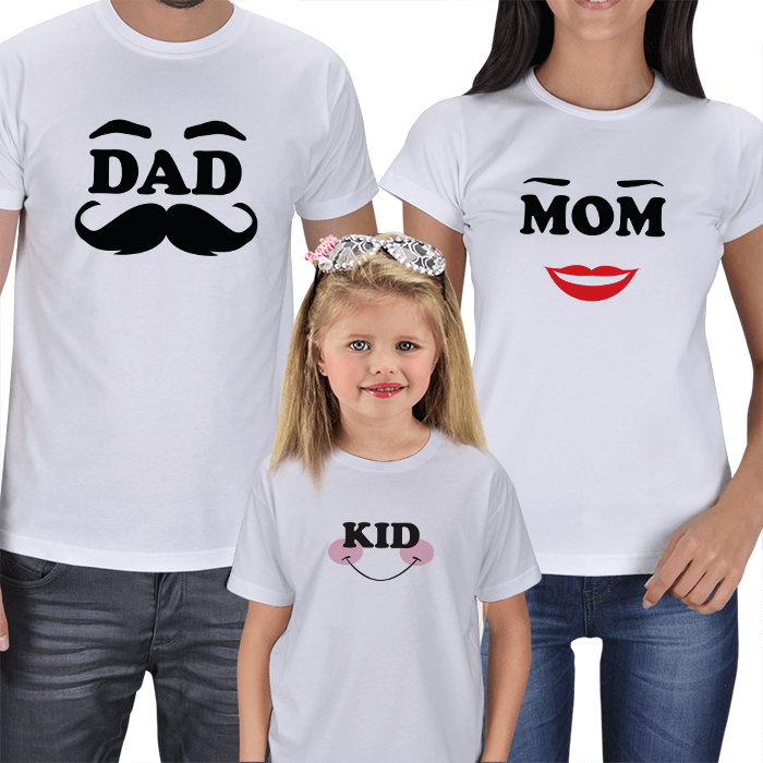Mom Dad and Kid T-shirts