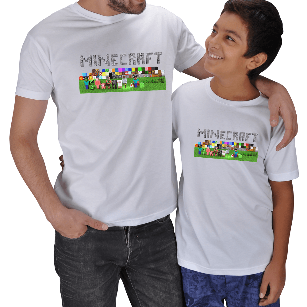 Minecraft Baba Oğul Tişört Seti