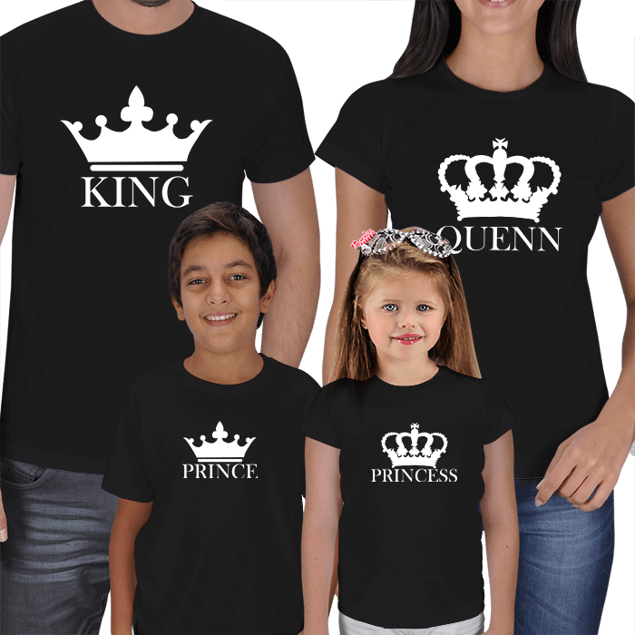 King Queen Prince and Princess Family T-shirts