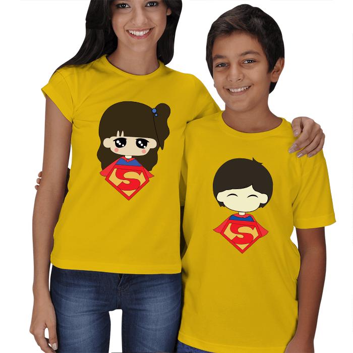 Süper Anne ve Süper Çocuk Tişörtleri