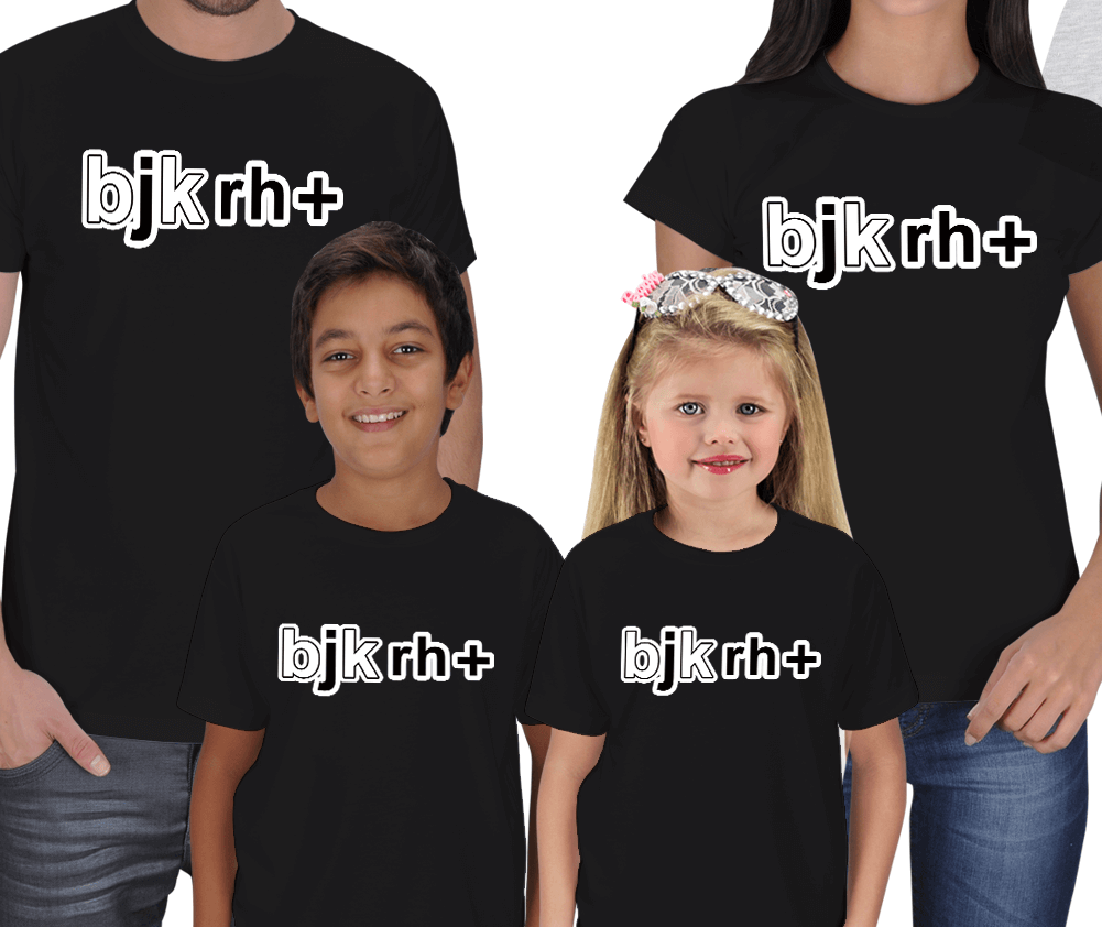 Bjk rh+ 4lü Aile Tişörtleri