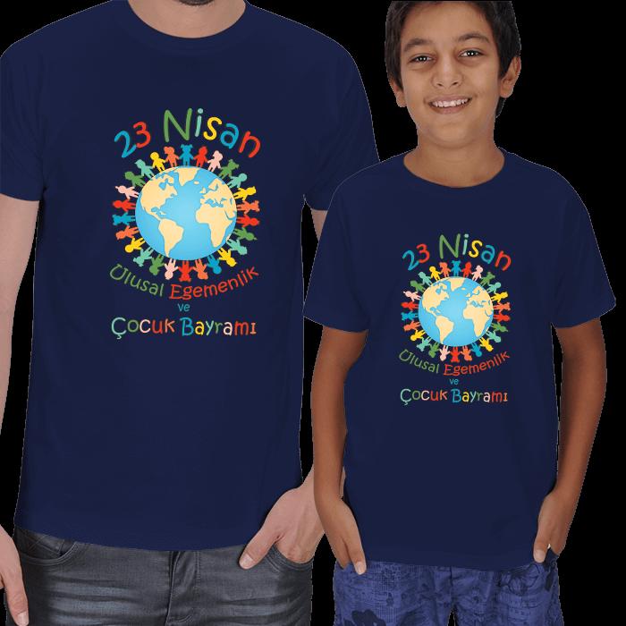 23 Nisan Baba ve Çocuk Tişörtleri