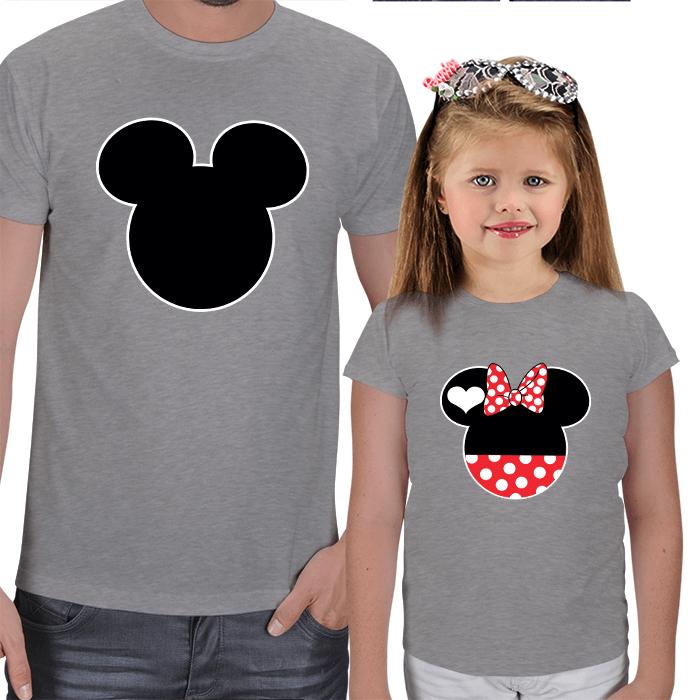 Disney Karakterler Baba Kız Tişörtler