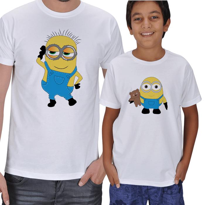Minyonlar Baba Oğul Set T-shirtler