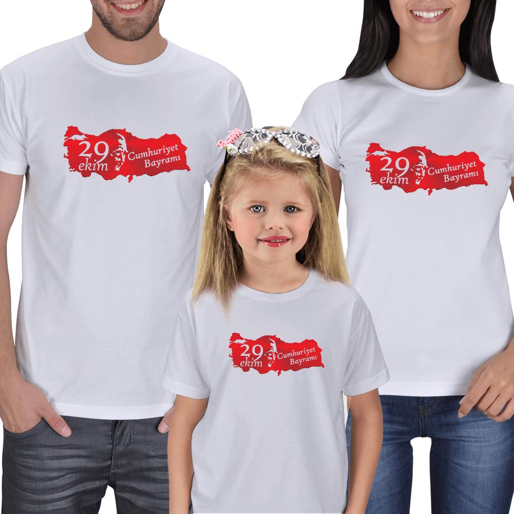 29 Ekim ve Türkiye Aile Tişörtleri