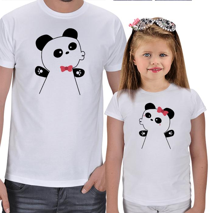 Baba - Kız Çocuk Eğlenceli Tişört Kombinleri