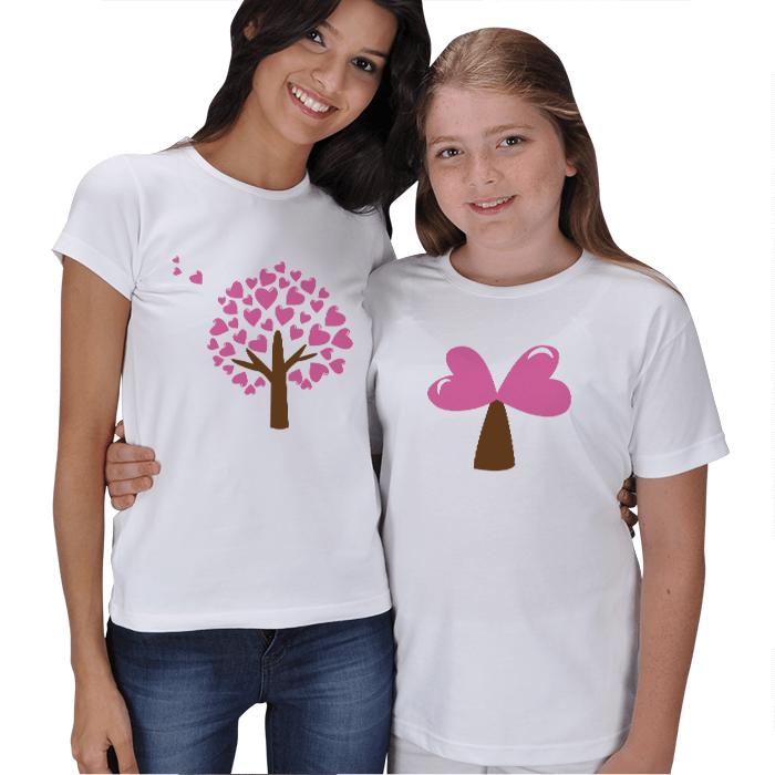 Sevgi Ağacı Anne Kız Tişörtleri