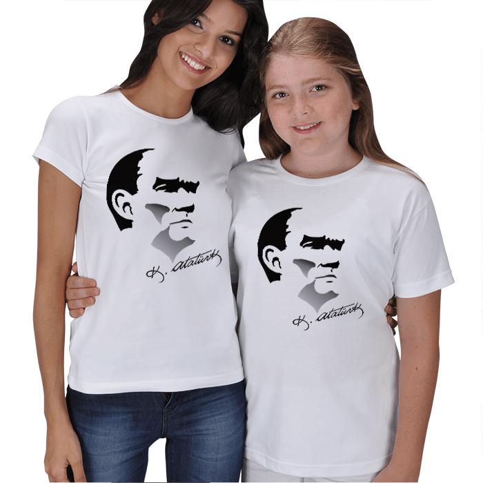 Atatürk Baskılı Anne Kız Tişört