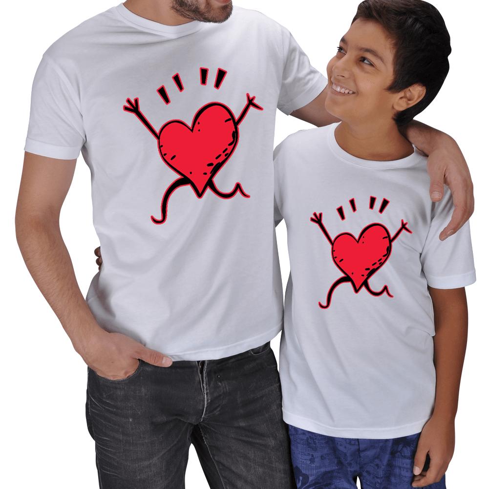 Kişiye Özel Baba Erkek Çocuk Tişört Setleri
