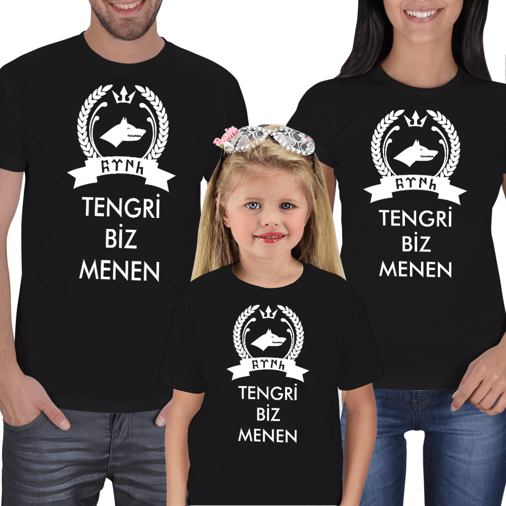 Tengri Biz Menen Anne Baba Çocuk Tişörtleri