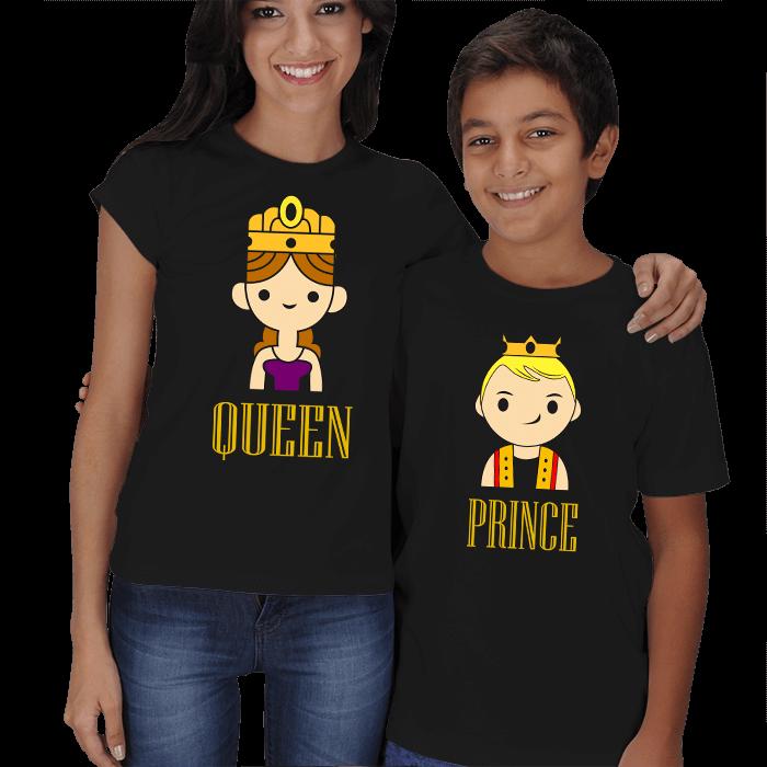 Kraliçe ve Prens Anne Çocuk Tişörtleri