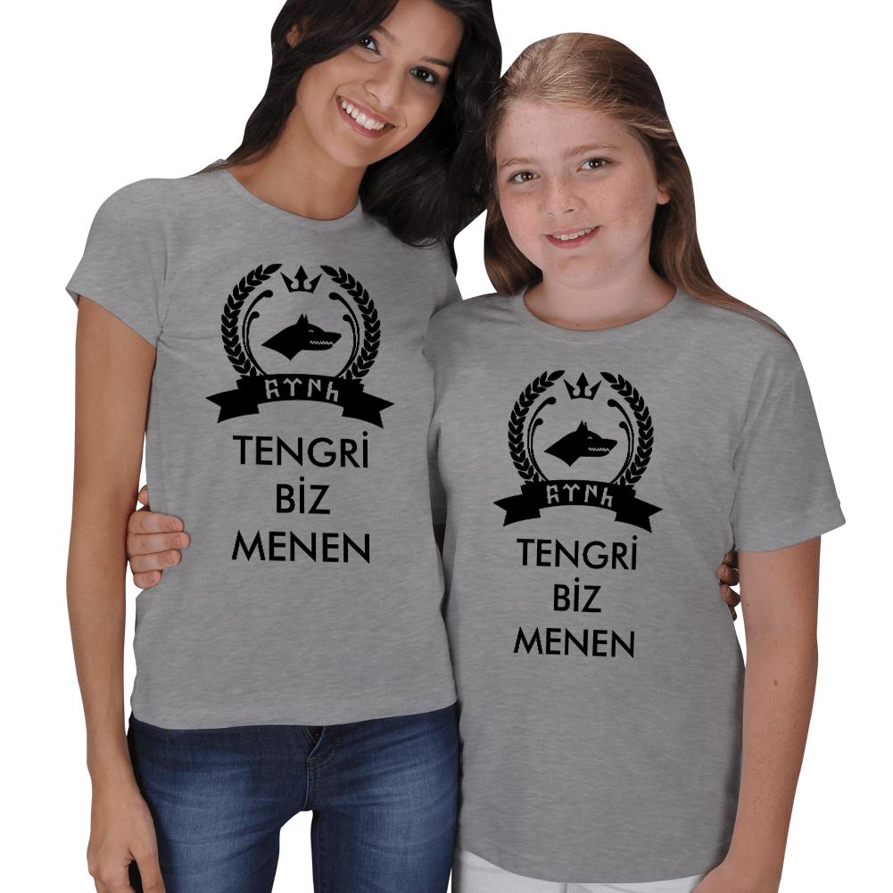 Tengri Biz Menen Anne Çocuk Tişörtleri