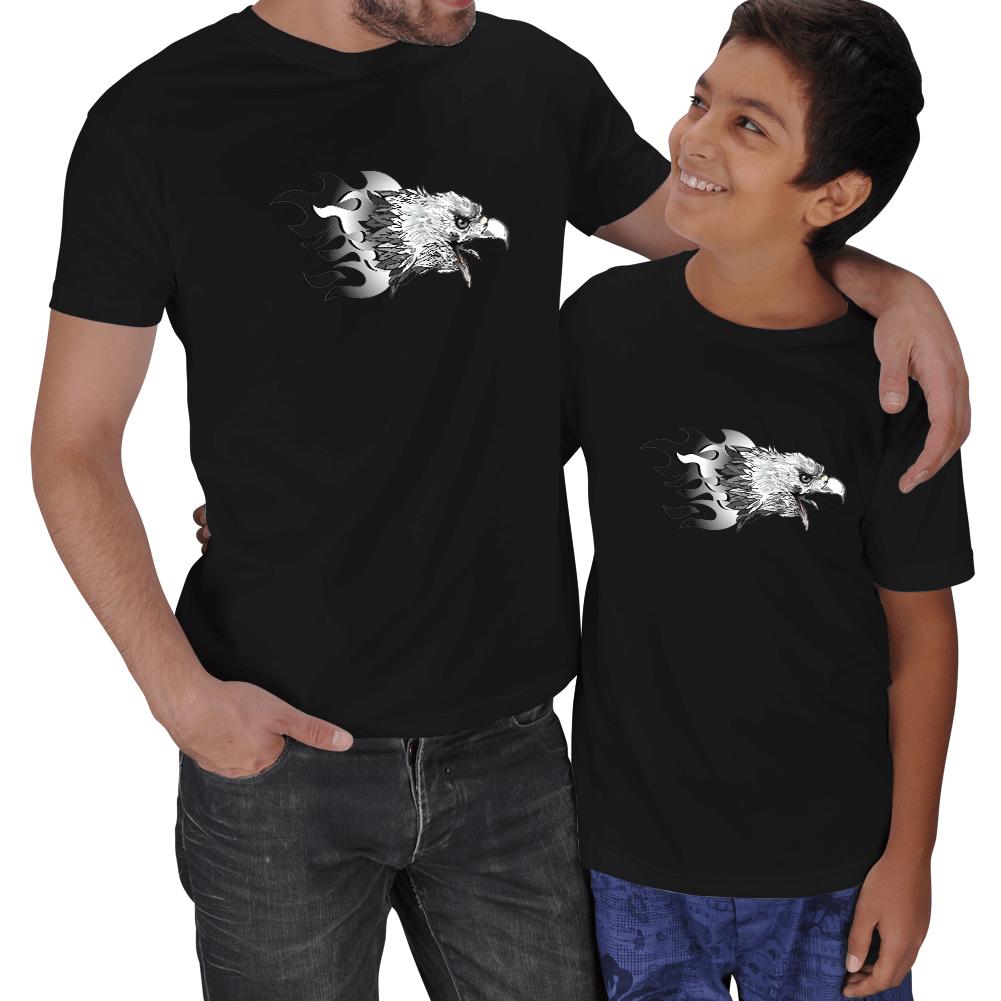 Kartal Baskılı Baba Oğul Tişörtler