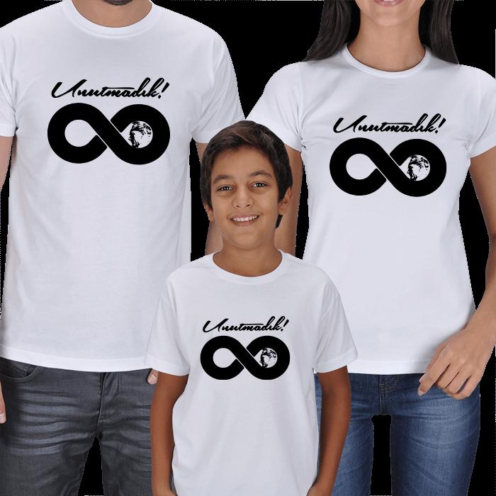 Unutmadık Atam! 3lü Aile Tişörtleri